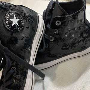 Crushed Velvet and Studs Chuck Taylor All Stars